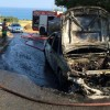 Amendolara, auto in fiamme