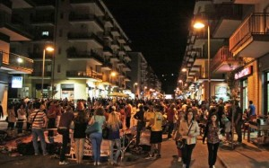 """Uno scatto della """"Notte di primavera 2013"""" che si è svolta sabato scorso a Rossano"""