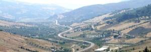 """L'attuale """"fondovalle"""" Ss 481 che collega Oriolo alla Ss 106 jonica"""