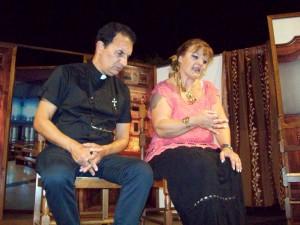 Don Mimmo e Ortensia la Perpetua in scena