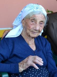 La centenaria Franceschina Sparano