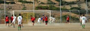 Il gol di Gaudiano del Francavilla contro il Serrapedace