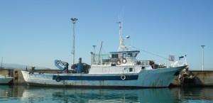 Un'immagine di repertorio del peschereccio affondato