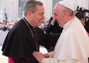 Il vescovo Marcianò con papa Francesco