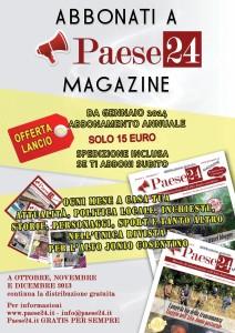 ABBONATI A PAESE24 MAGAZINE - vai home page e scopri come fare