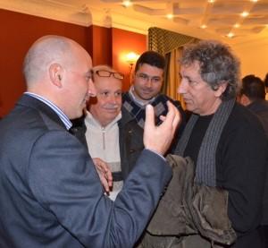 Da sinistra il sindaco Di Leo, il prof. Gaetano Di Leo, l'assessore Giovanni Gallo e Bennato (2012)