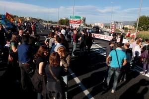 La protesta degli Lsu-Lpu dei giorni scorsi sull'A3 Salerno-Reggio Calabria