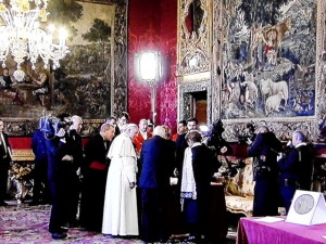 Salone dove è stato esposto il Codex