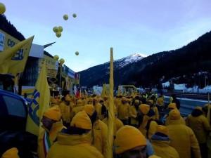 La manifestazione di Coldiretti al Brennero