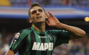 Domenico Berardi grande protagonista nel 4-3 del Sassuolo contro il Milan