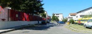 La caserma dei Carabinieri a Trebisacce