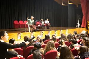 Un momento dell'incontro tra Crepet  e gli studenti