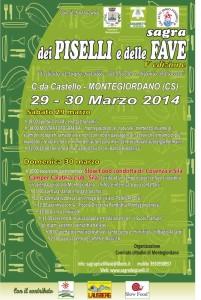 """""""Sagra dei piselli e delle fave"""" a Montegiordano. Sabato 29 e domenica 30 marzo..."""
