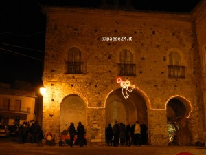 La chiesa di San Domenico durante una manifestazione ne corso del Natale 2013