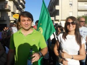 Alberto Romano e Immacolata Federico, rappresentanti dei Verdi di  Rossano