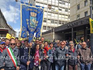 Un momento della manifestazione della Coldiretti a Catanzaro