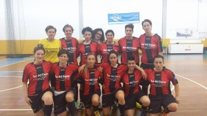 La squadra del Cus Cosenza C5 femminile