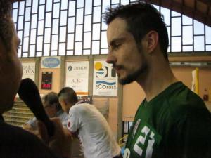 Il portiere dell'Orte Bracaglia, protagonista nella sfida della semifinale playoff di ritorno