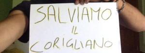 """Uno dei tanti appelli  apparsi sui social network """"Salviamo il Corigliano Calcio"""""""