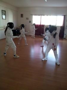 Atleti della Scherma Club Corigliano in azione
