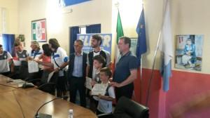 Un momento della cerimonia di chiusura della terza edizione del Cesena Football Camp