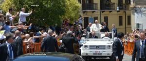 Arrivo del Papa in seminario