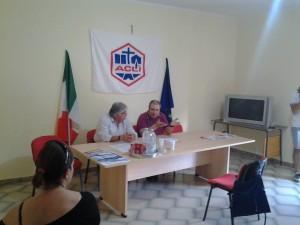 Un momento della presentazione del teatro stabile di Corigliano