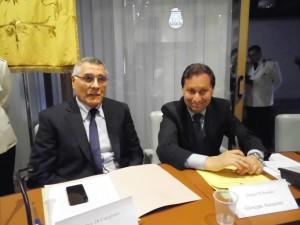 Il sindaco di Corigliano e il sindaco di Rossano (foto  Antonio Le Fosse)