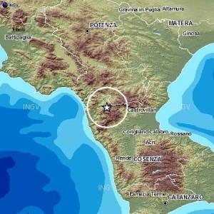 La zona colpita dal terremoto