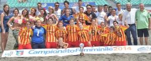 La compagine del Catanzaro, Campione d'Italia Beach Soccer Donne 2014