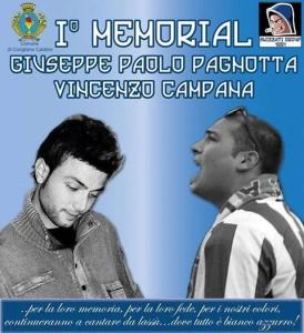 """La locandina ufficiale del primo memorial """"Giuseppe Pagnotta e Vincenzo Campana"""""""