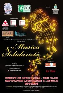 """Il manifesto dell'evento """"Musica e solidarietà"""""""