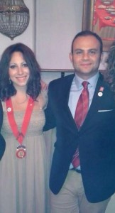 La  presidente del Rotaract Trebisacce, Chiara Spinosa, in compagnia del  del  Rappresentante del Distretto 2100, Danilo De Fazio