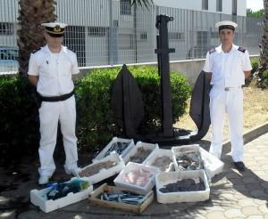 Il prodotto ittico sequestrato dalla Guardia Costiera