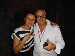 Il Giornalista Antonio Le Fosse con la cantante Verdiana Zangaro