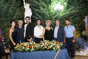 La cerimonia inaugurale del Csma, con la presenza del sindaco di Crosia, Antonio Russo (il secondo da destra)