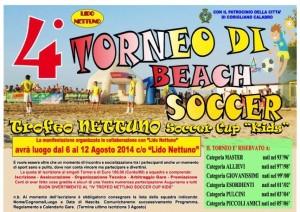 La locandina del  Trofeo Nettuno Soccer Cup Kids 2014