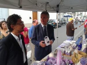 Il consigliere comunale Brancaccio in compagnia del consigliere regionale Gianluca Gallo