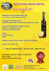 Menù di Ferragosto a Santa Marina (clicca per ingrandire)