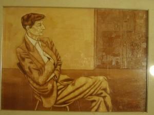 In questo dipinto (olio su tela, 50x70) è raffigurato il padre dell'artista