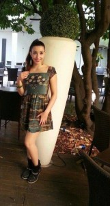 Ylenia Lucisano con l'abito Gemyart