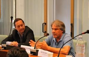 Il sindaco di Rossano Antoniotti (a sinistra) con l'avvocato Luca Tamassia