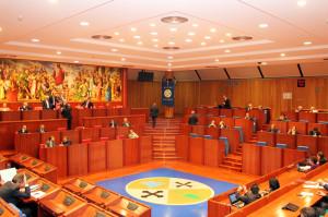 L'aula del Consiglio regionale a Reggio Calabria
