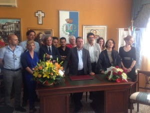 L'amministrazione comunale di Crosia guidata dal sindaco Antonio Russo