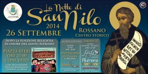 Il manifesto con gli appuntamenti in onore di San Nilo da Rossano
