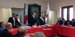 Ministro albanese in municipio