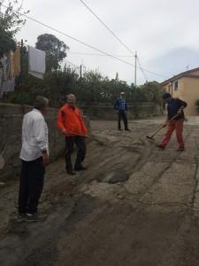 Le operazioni di manutenzione a Crosia
