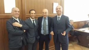 Da sinistra: La Regina, D'Alba, Mundo e Mormandi