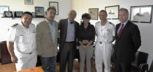 Da sinistra Fabio Mazzotta (comandante delegazione Montegiordano), Ciminelli,