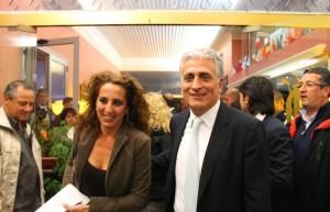 L'aspirante governatore della regione Calabria, Wanda Ferro e il capolista della Casa delle libertà, Giuseppe Graziano